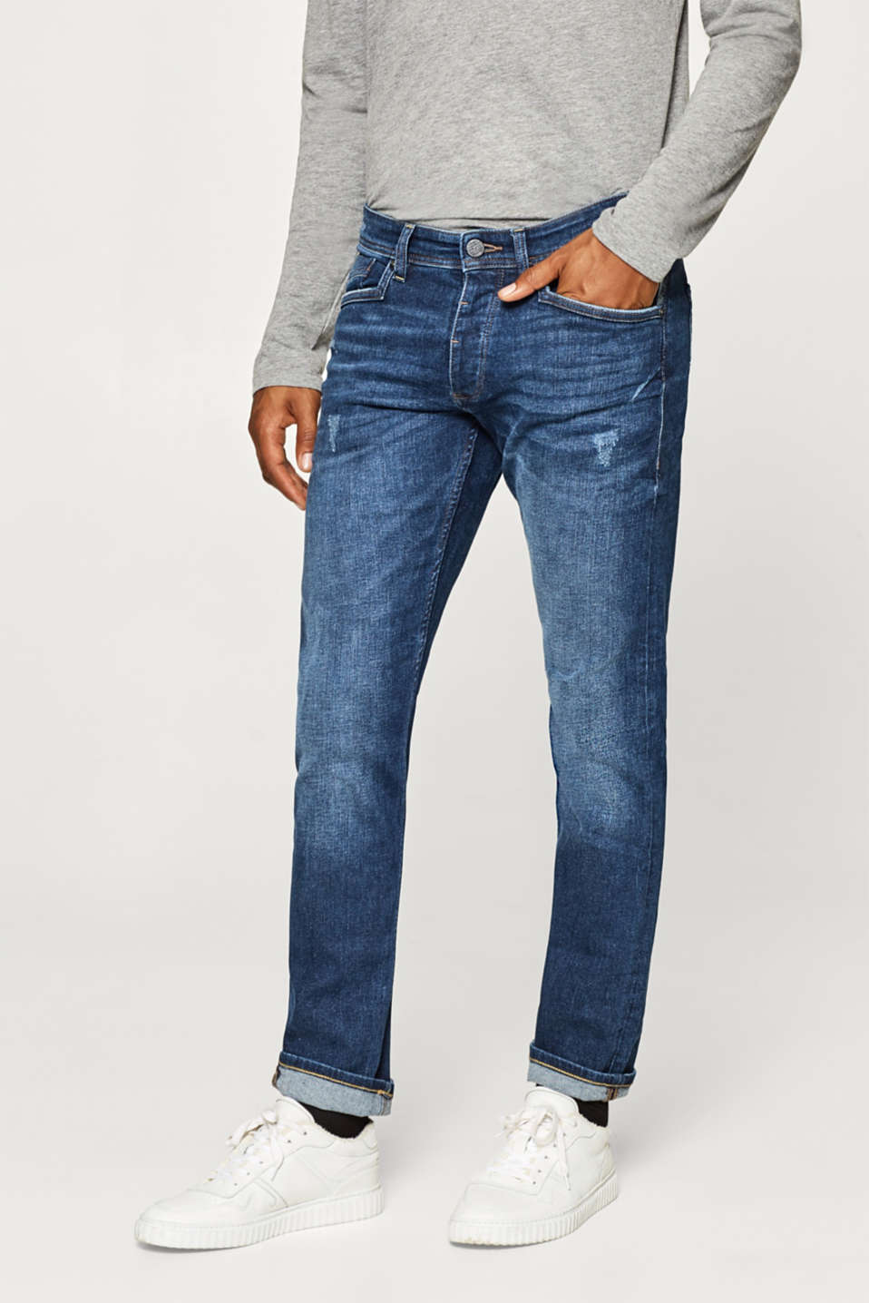 edc - Stretch jeans with a washed effects