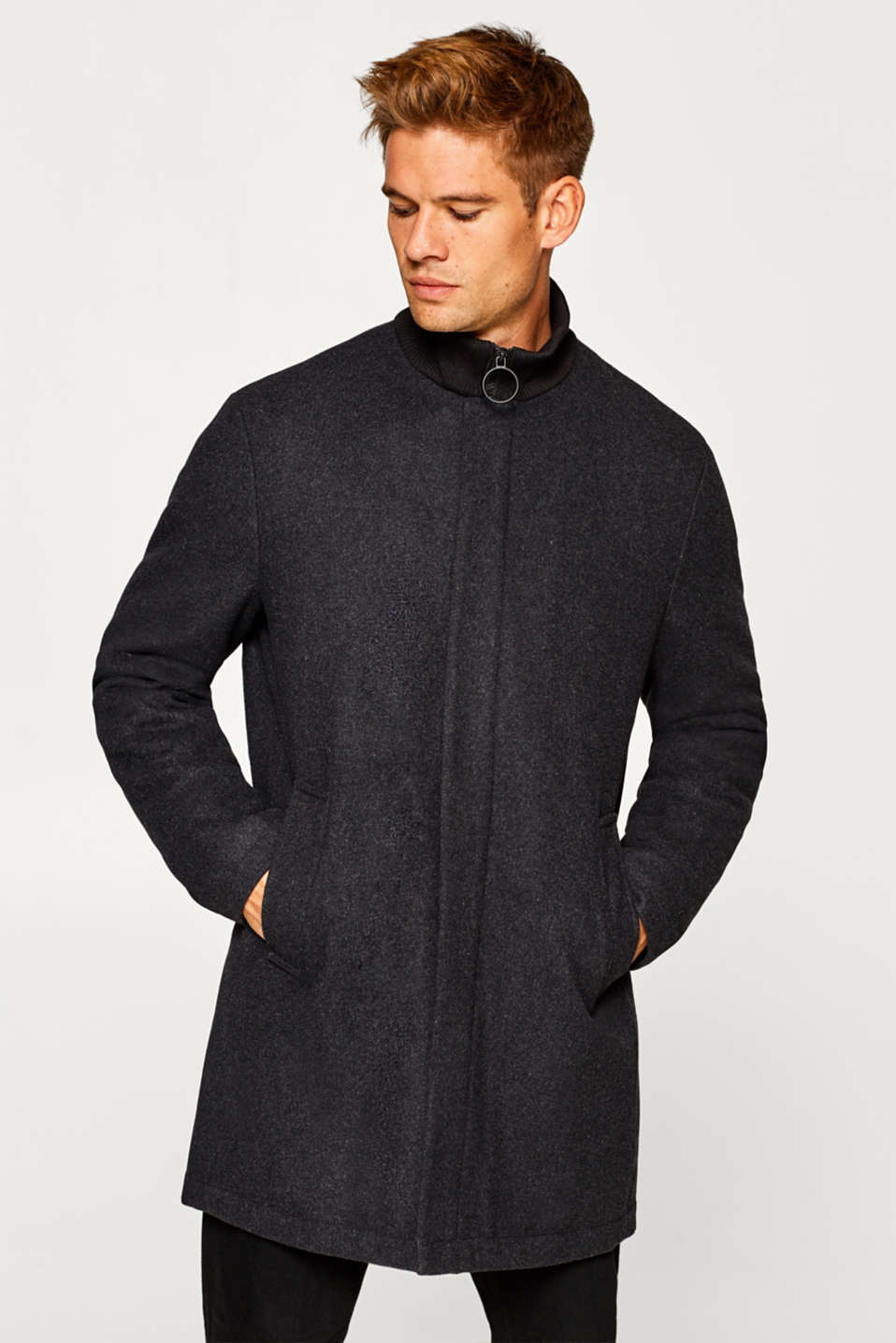 edc - Wool coat with quilted lining