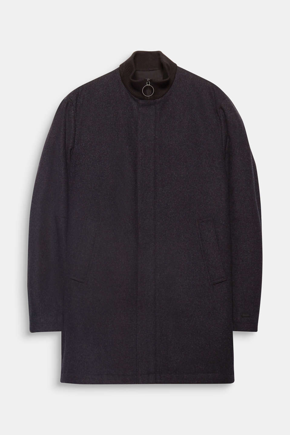This sleek wool coat will take you stylishly through the colder seasons.