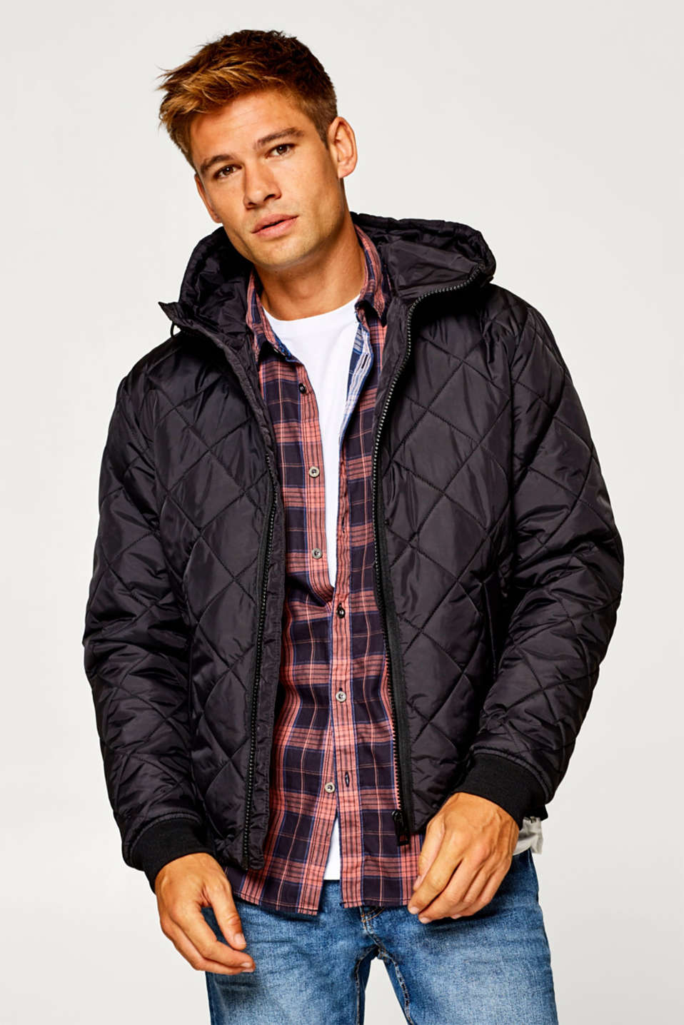 edc - Bomber jacket with diamond quilting