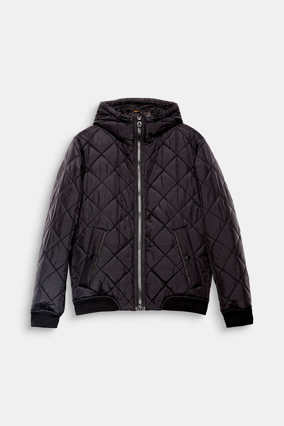 The trendy bomber cut and distinctive diamond quilting make this quilted jacket a fashion piece for your autumn look.