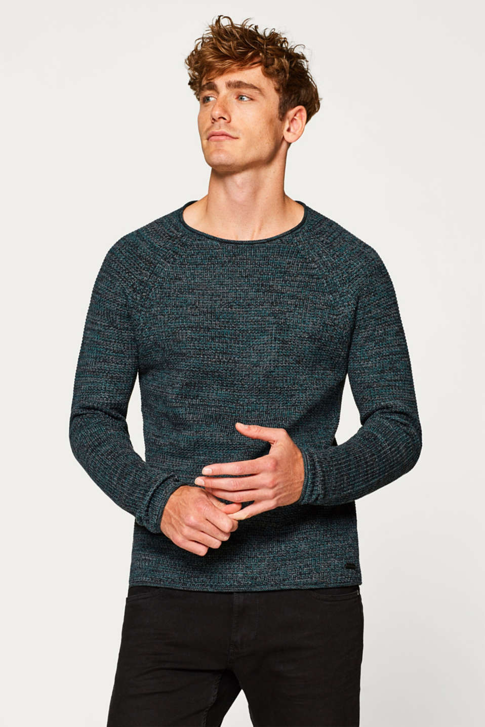 edc - Knitted jumper in 100% cotton