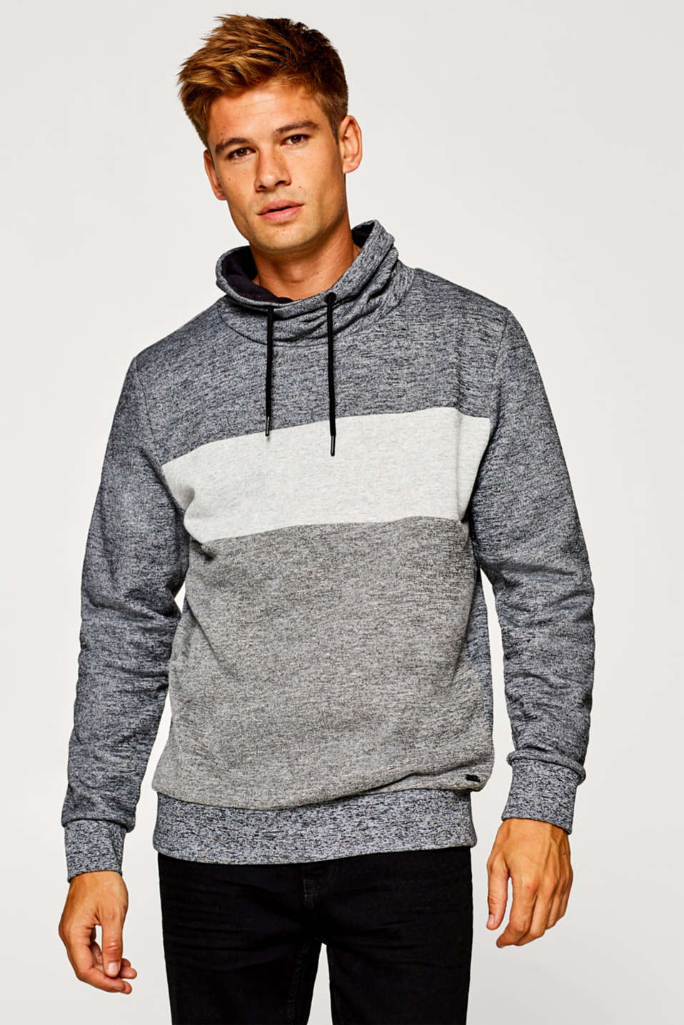 edc - Colour block sweatshirt in blended cotton