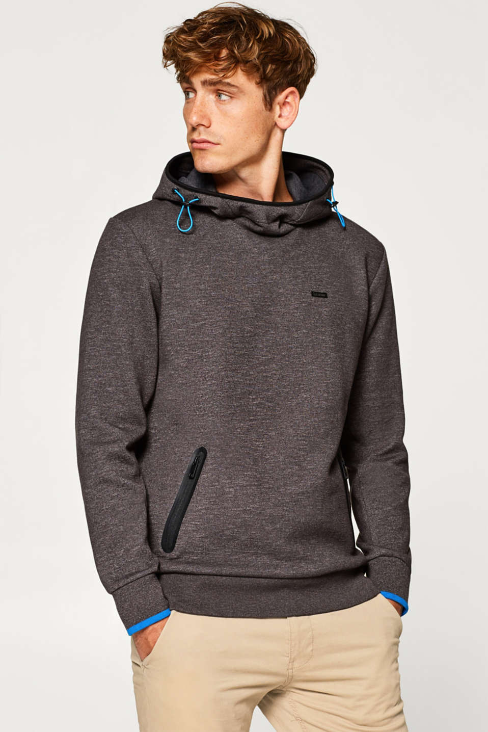 edc - Hoodie sweatshirt with cotton