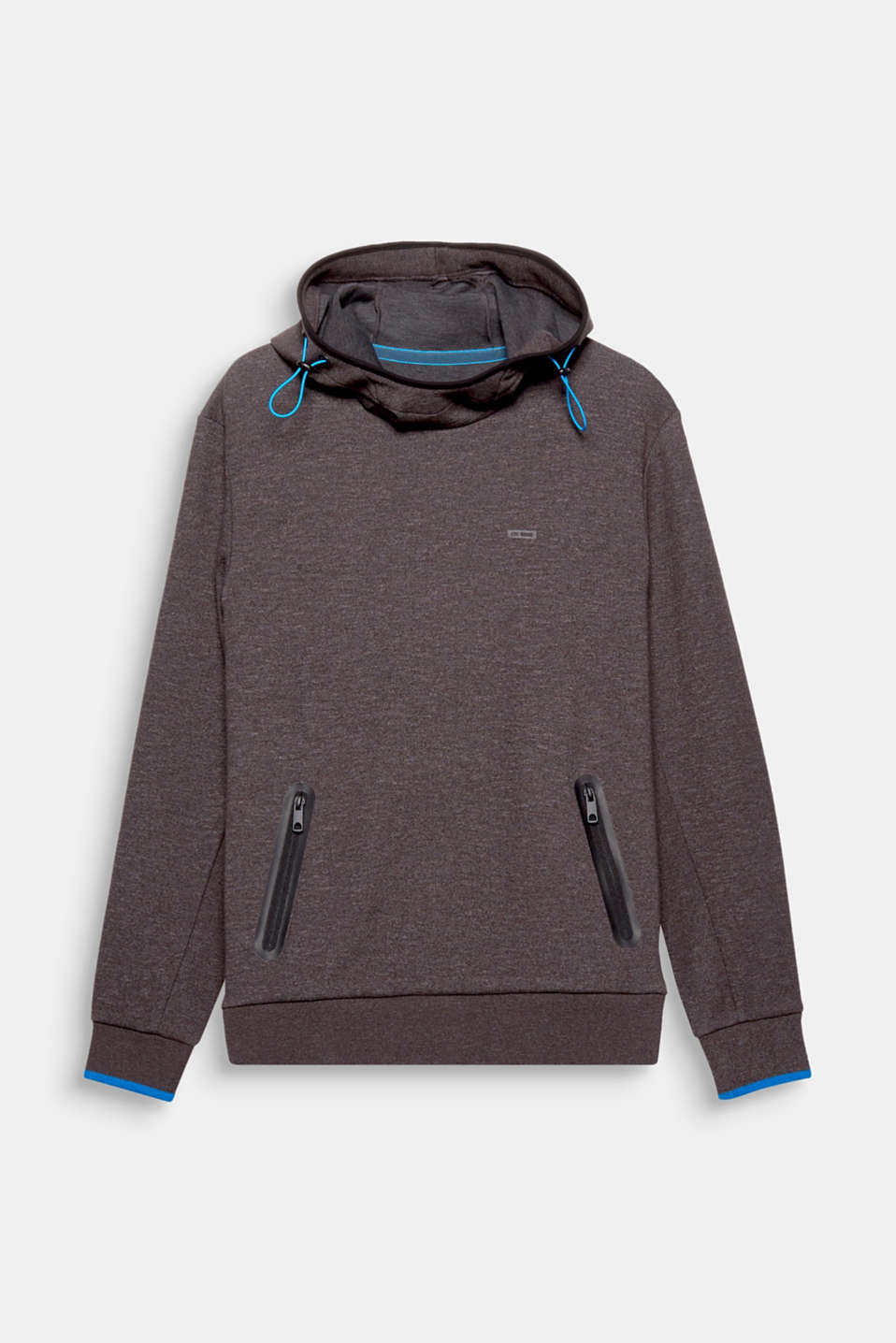 This casual hoodie unites sporty elements with contrasting details to create an ultra fashionable look.