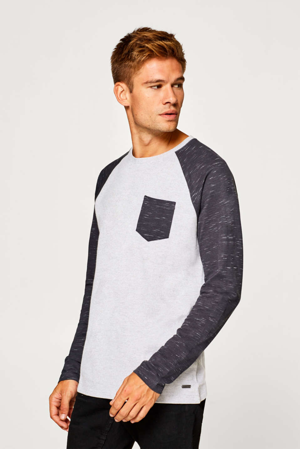 edc - Long sleeve jersey top with raglan sleeves