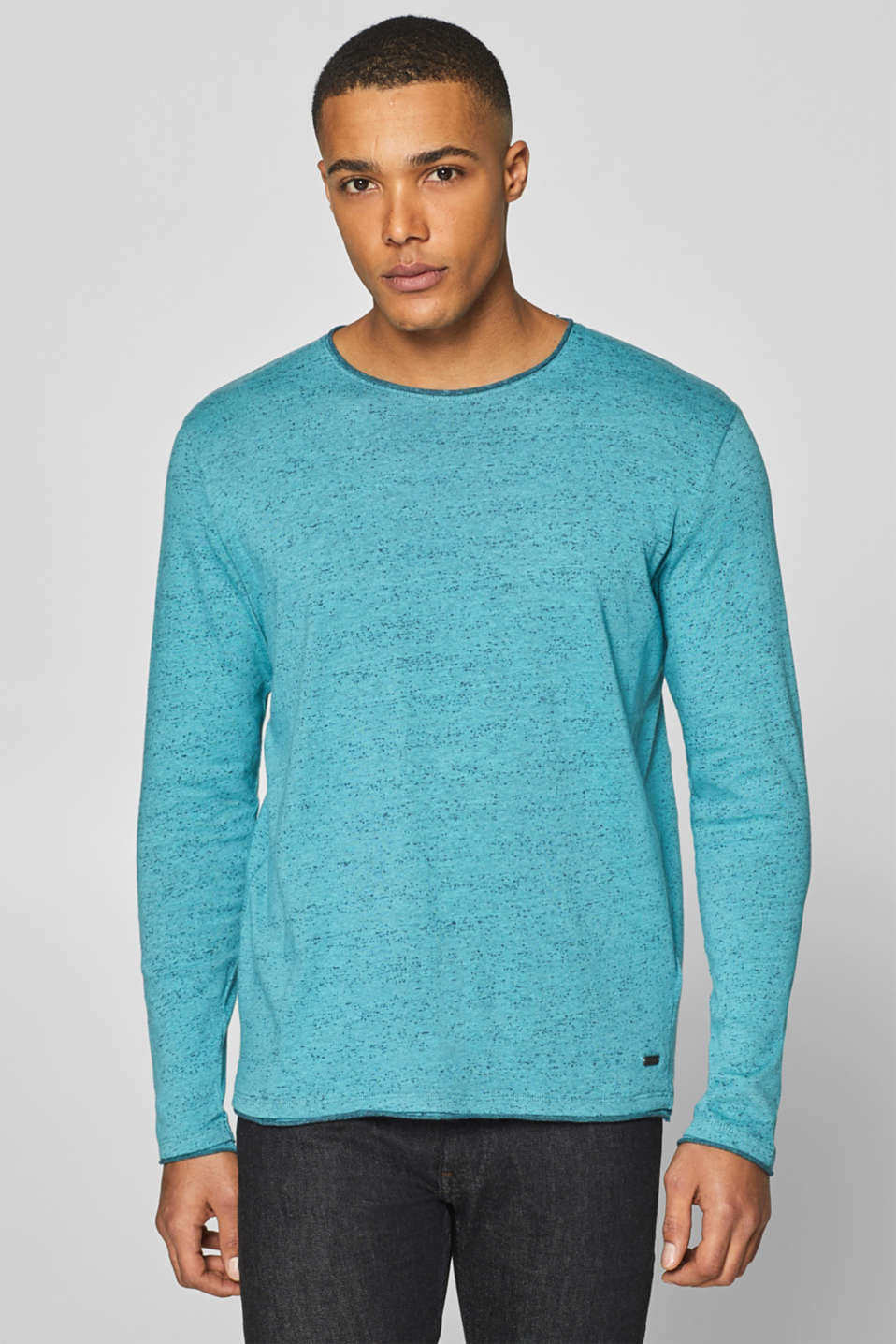 edc - Jumper with a dimpled finish, 100% cotton