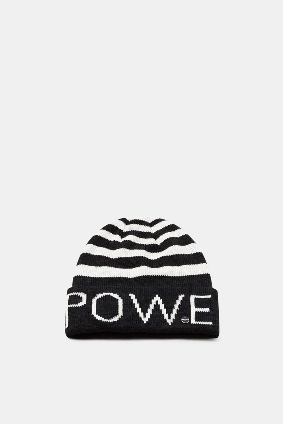 Esprit - Striped hat with lettering