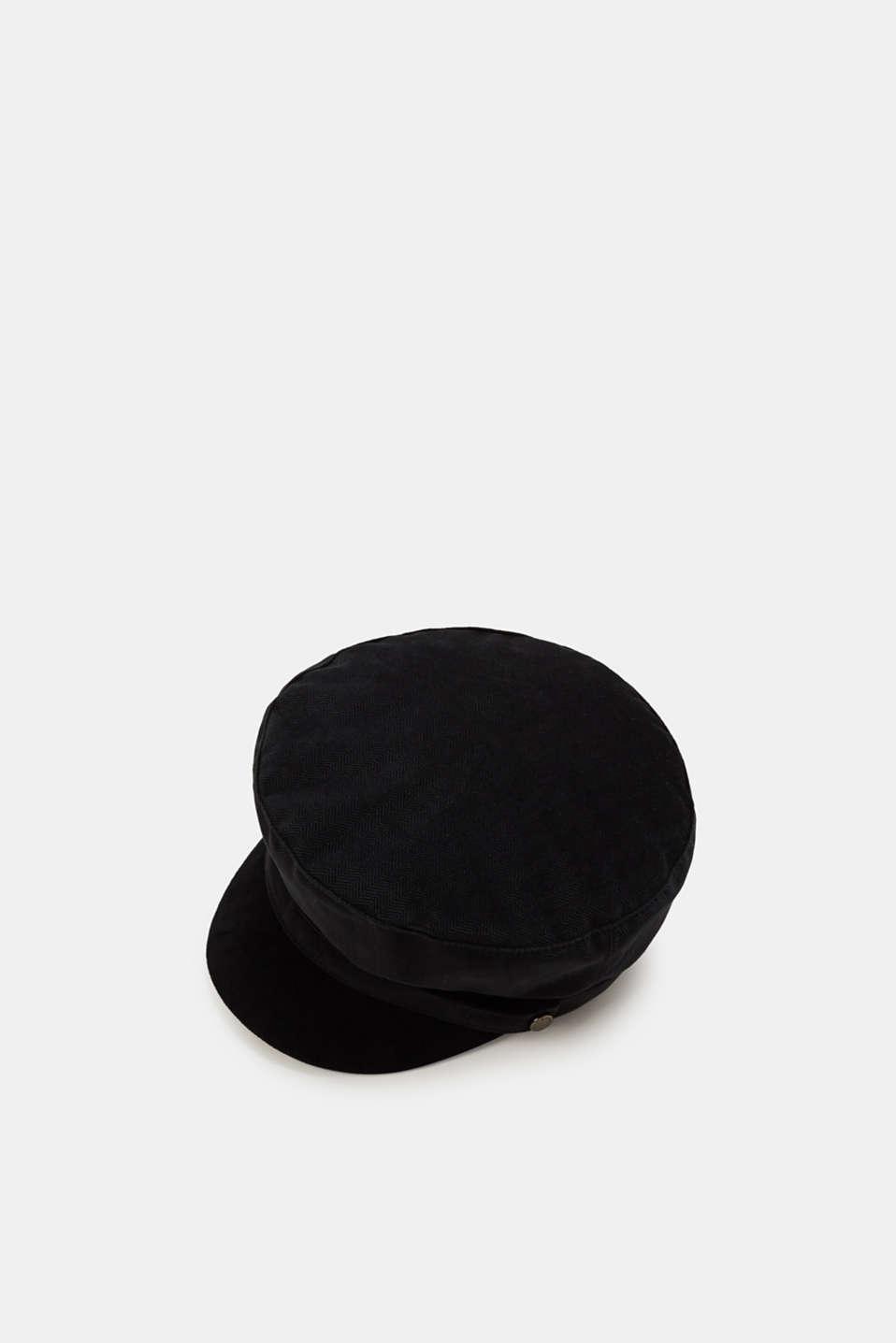 Esprit : Gorra de terciopelo con diseño de espiga en la Online-Shop