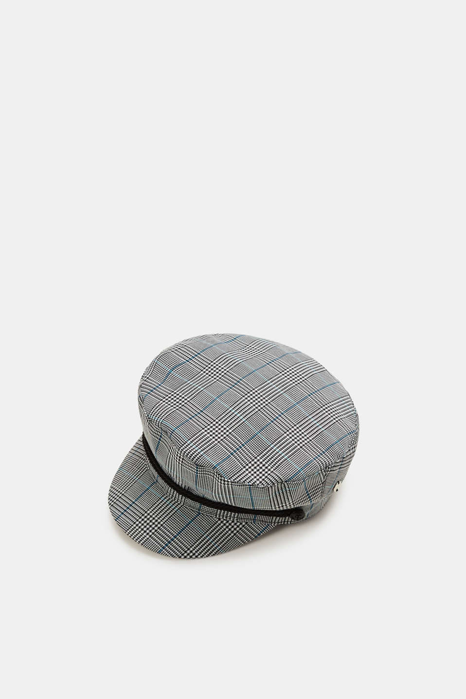 Esprit - Baseball cap with a Prince of Wales check pattern