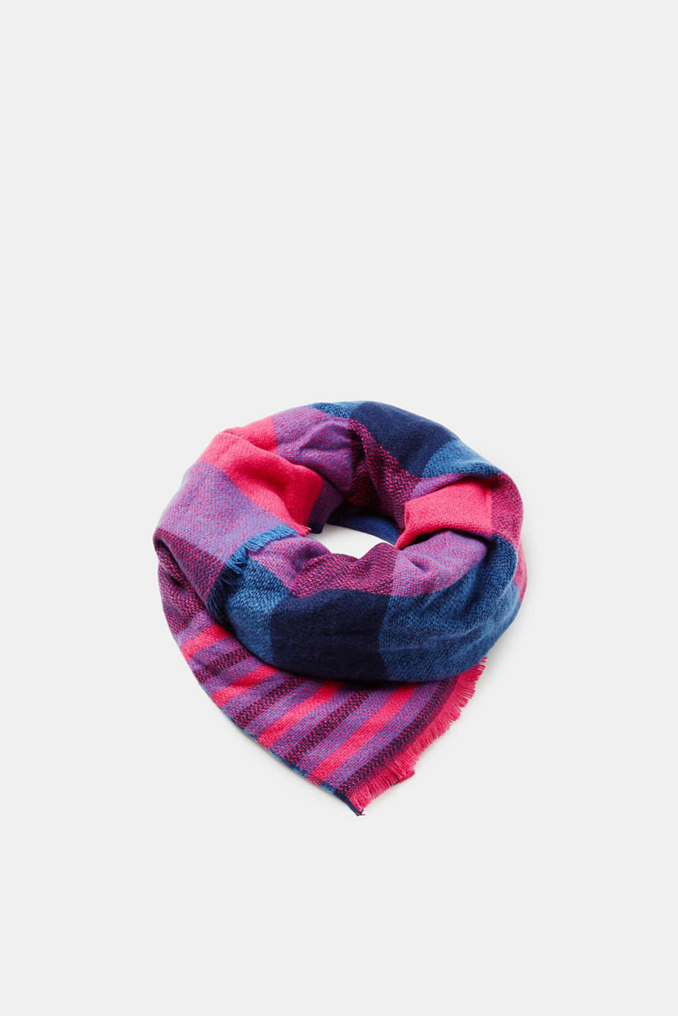 Esprit - Woven scarf with a check pattern