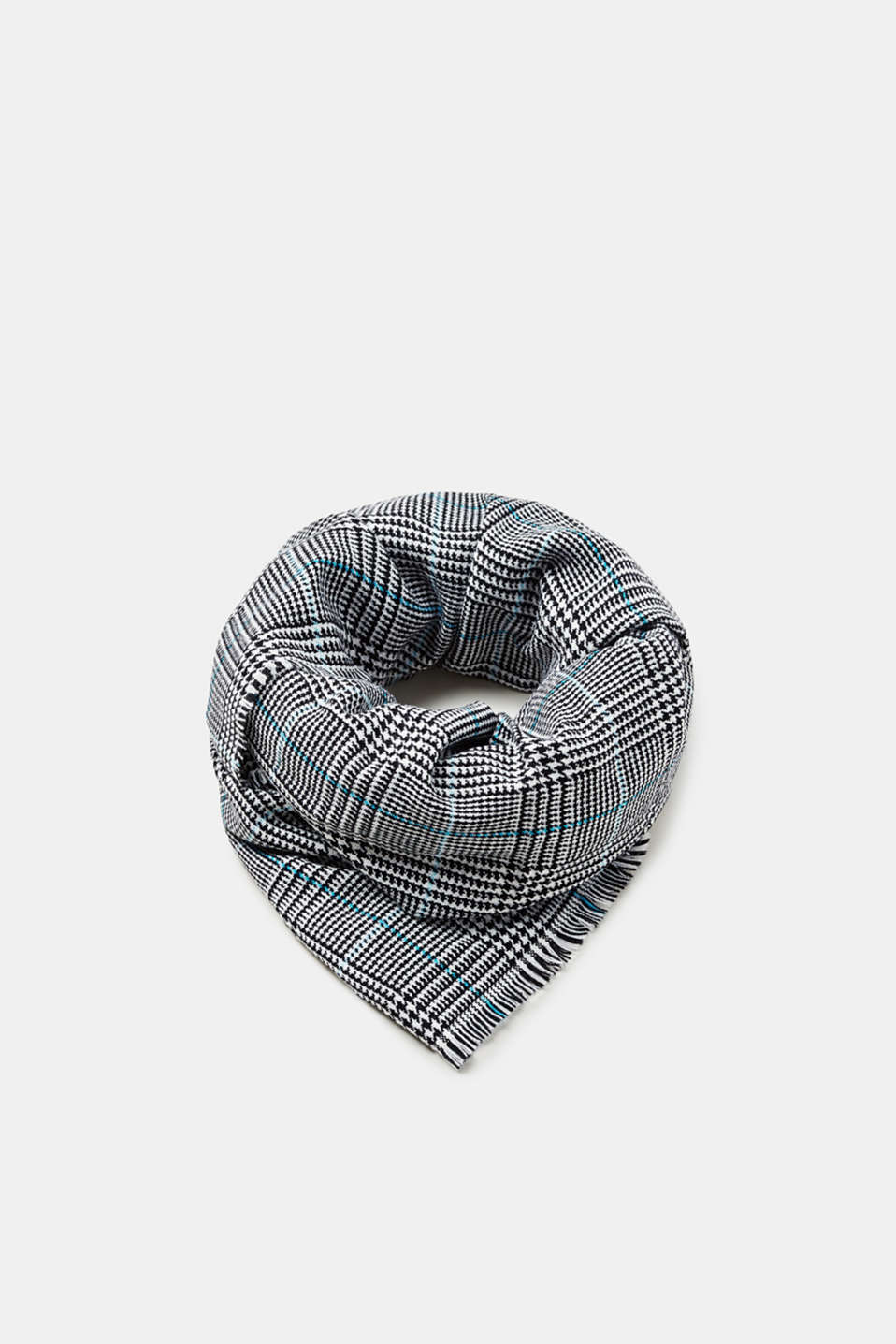 Esprit - Colourful woven scarf in Prince of Wales check