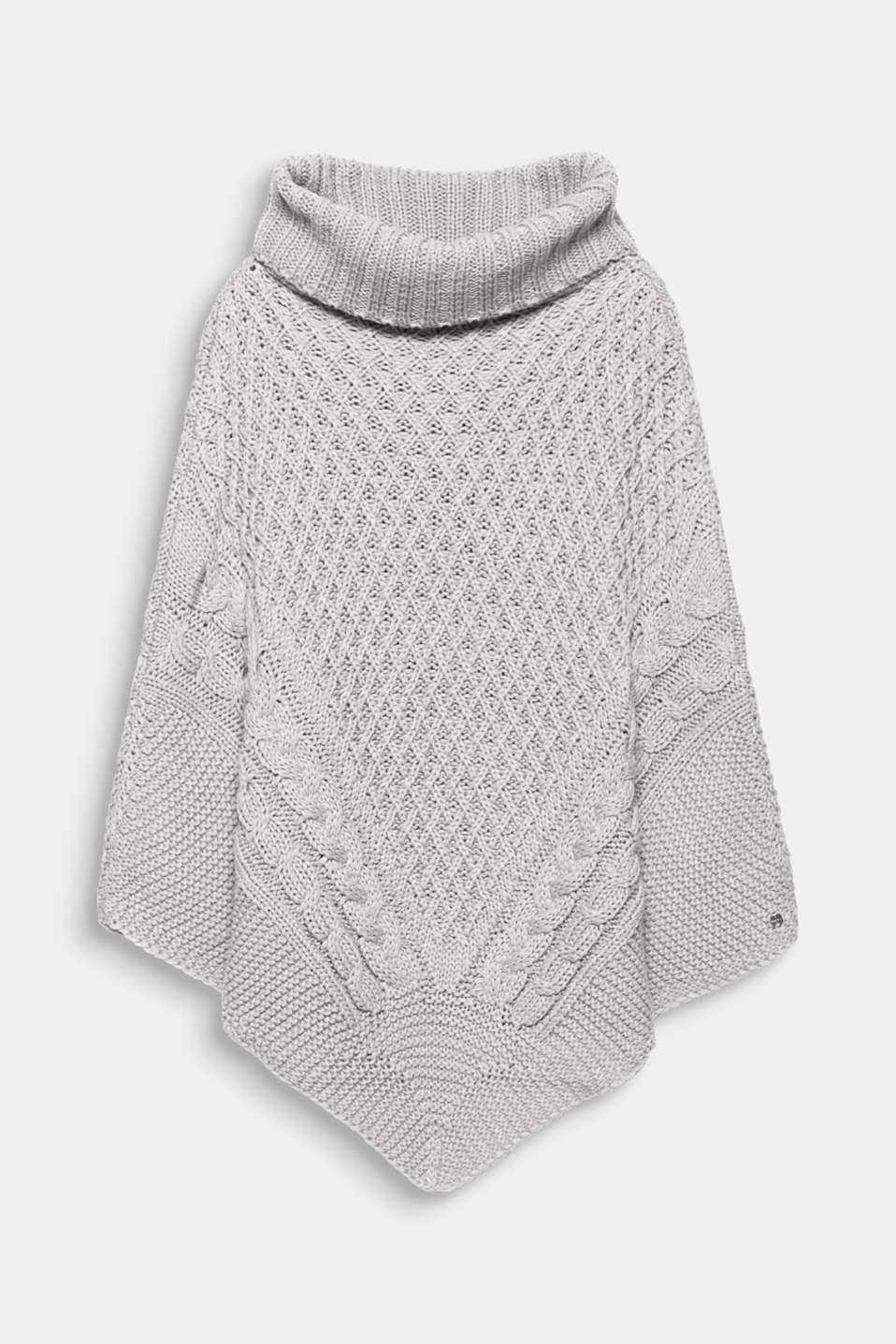 Esprit - Poncho in a three-dimensional chunky knit