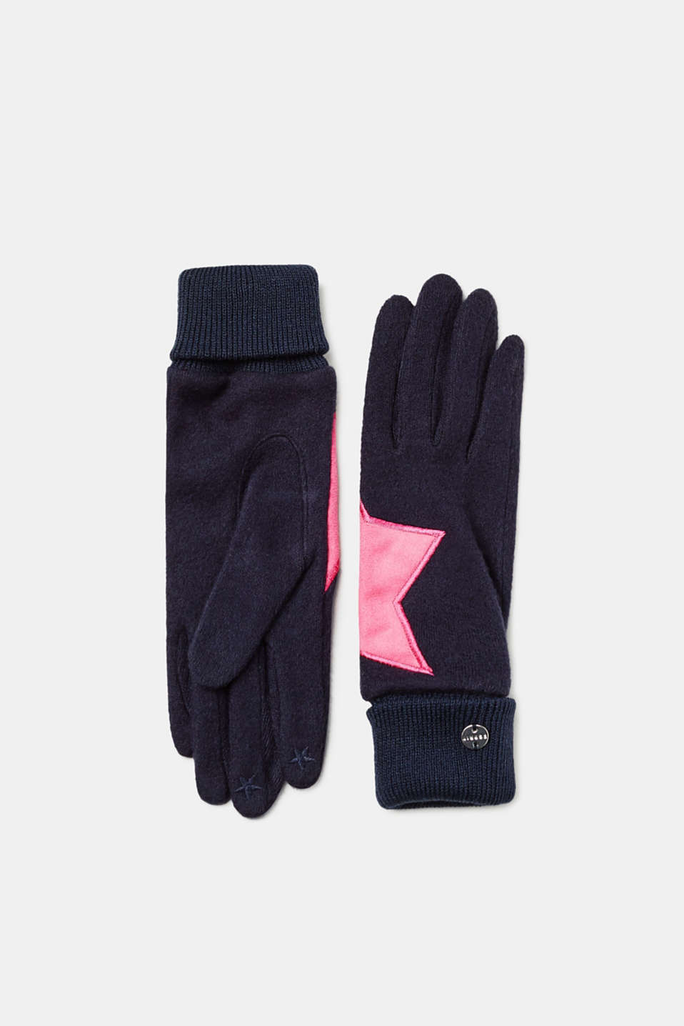 Esprit - Gloves with star appliqué