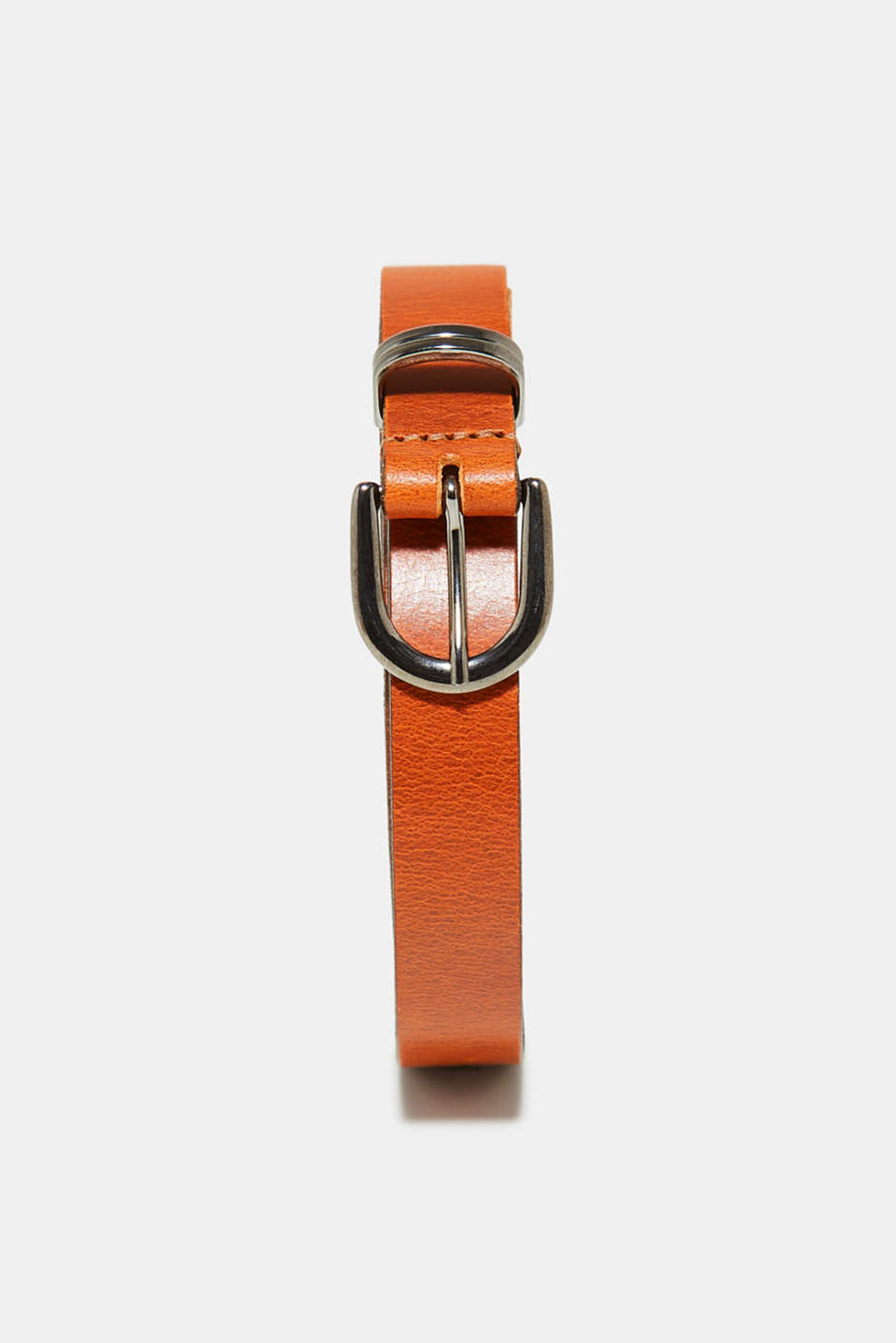 Esprit - Narrow belt in buffalo leather