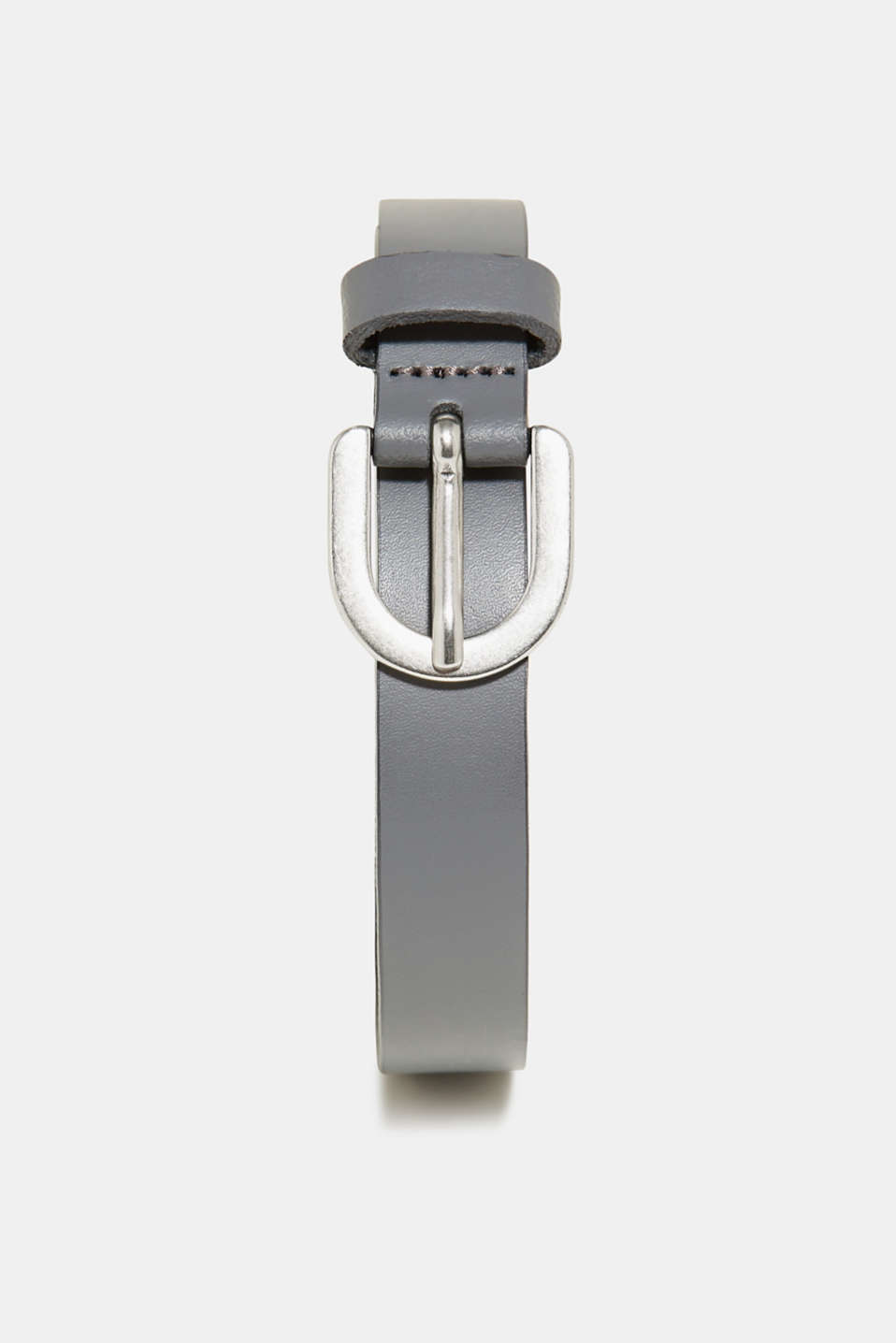 Esprit - Narrow leather belt with a metal buckle
