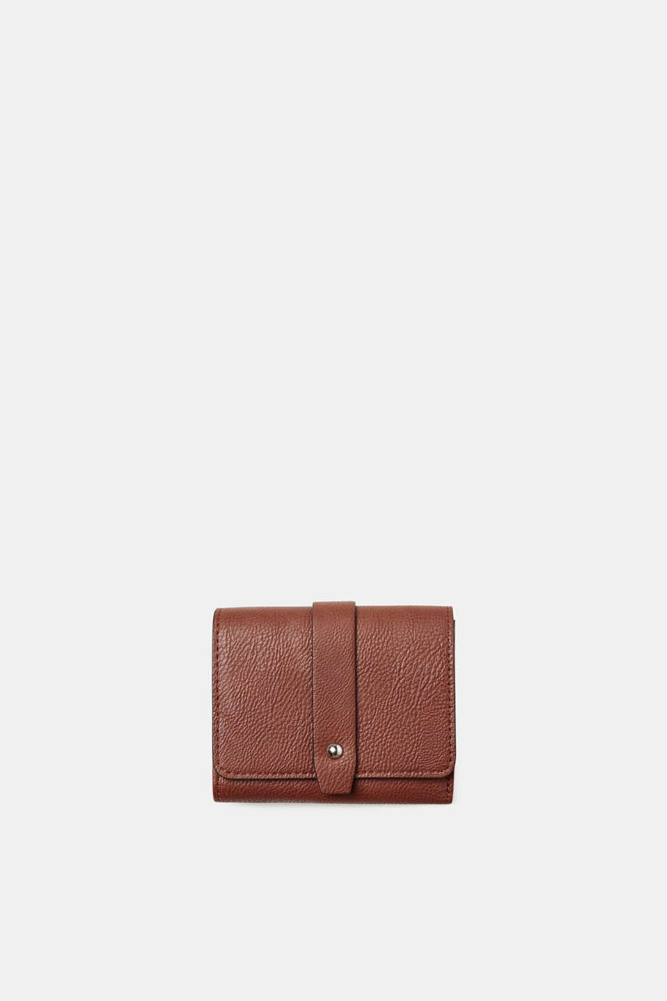 Esprit - Compact purse in grained faux leather
