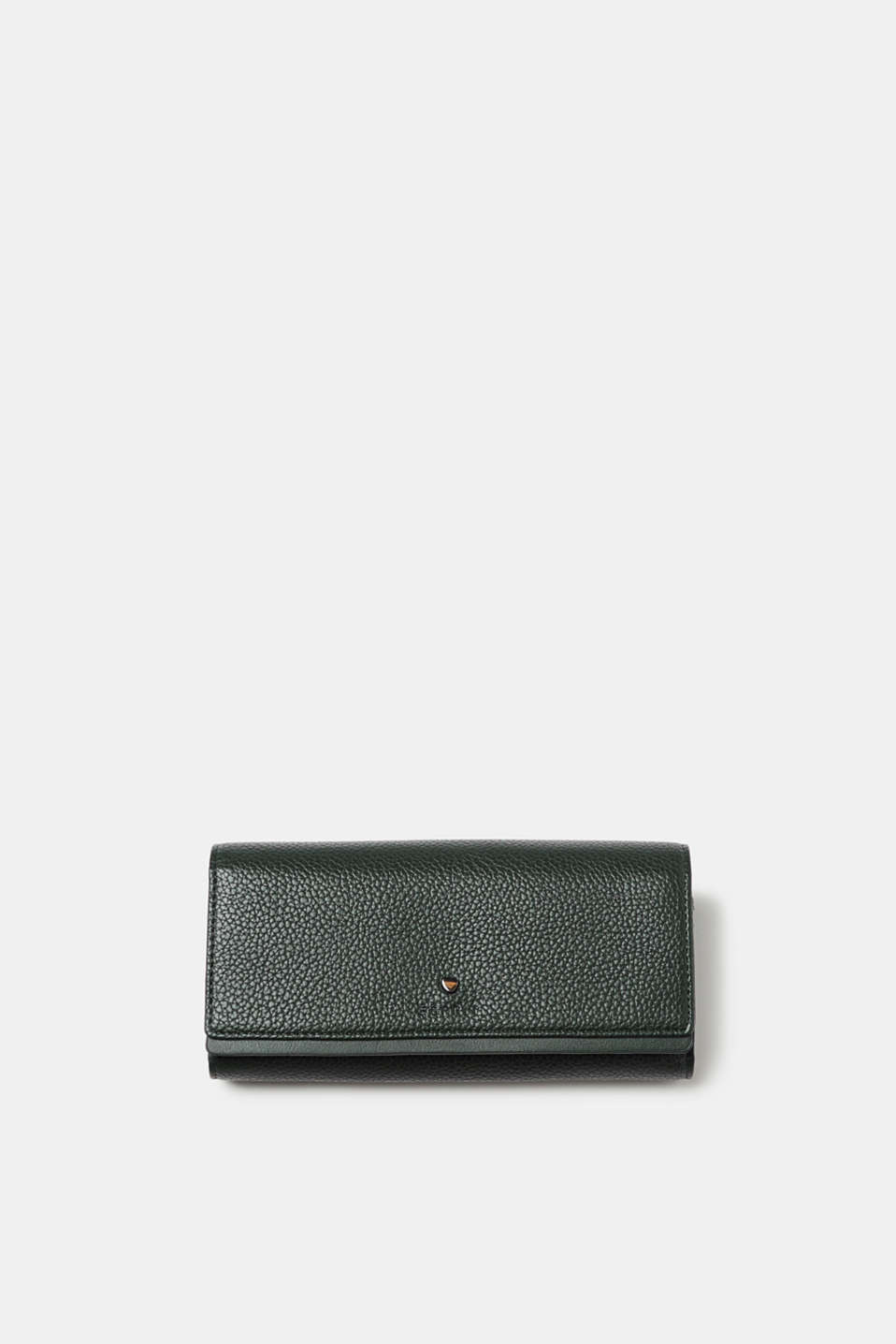 Esprit - Grained faux leather wallet