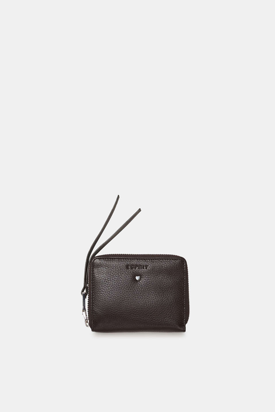 Esprit - Leather purse with a zip