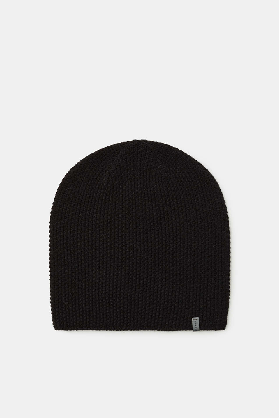 Esprit - Hat with a knitted texture
