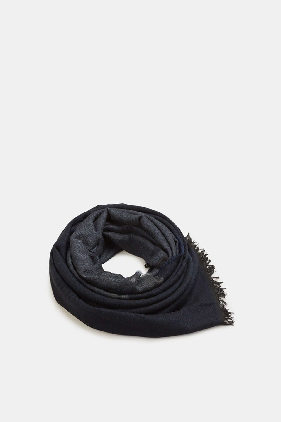 Esprit - Two-tone scarf with woven texture
