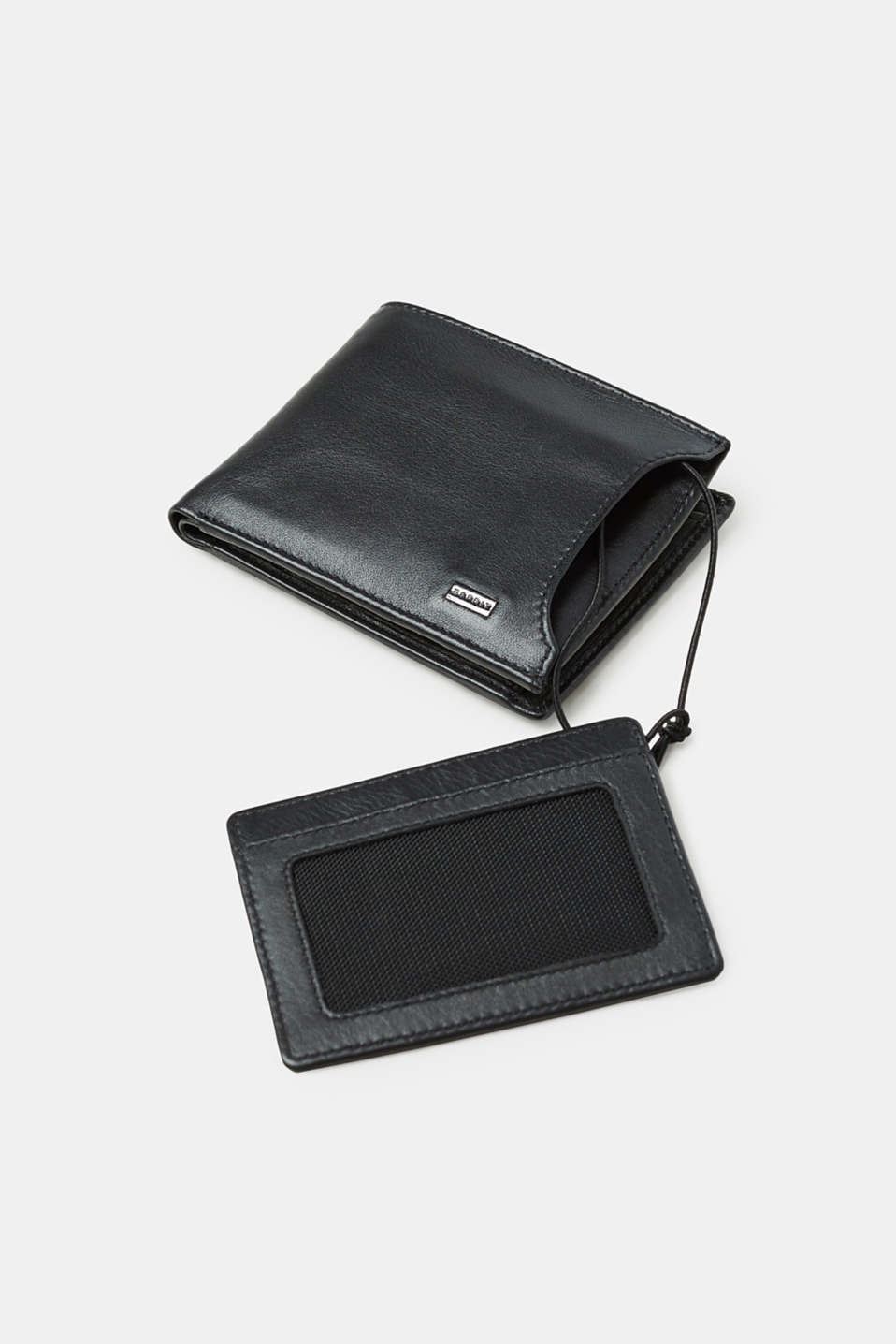 Leather purse with an integrated cardholder
