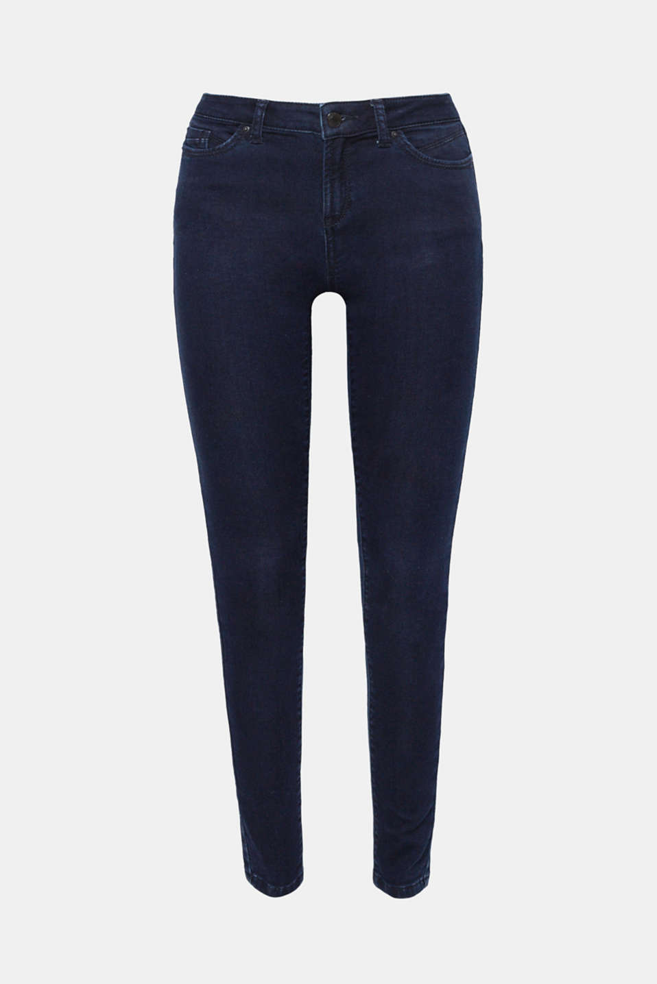 They fit fantastically, are mega comfy, go with lots of your looks and give you new styling ideas: basic, skinny stretch jeans with a sensationally soft outer surface!