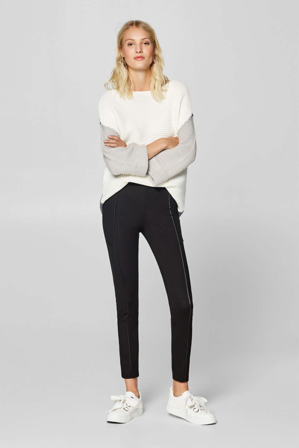Esprit - Treggings with piping