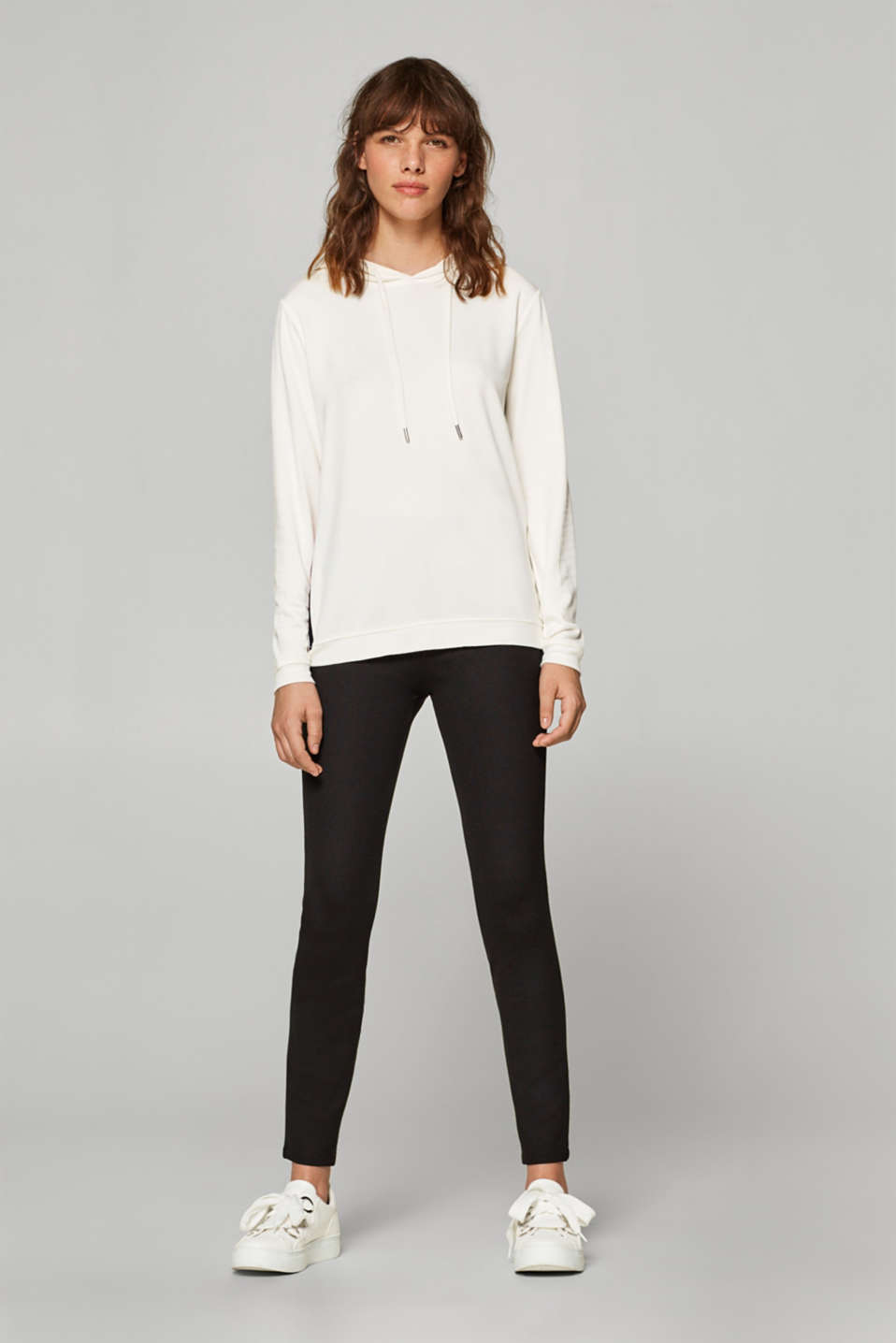 Esprit - Leggings with embellished elasticated waistband