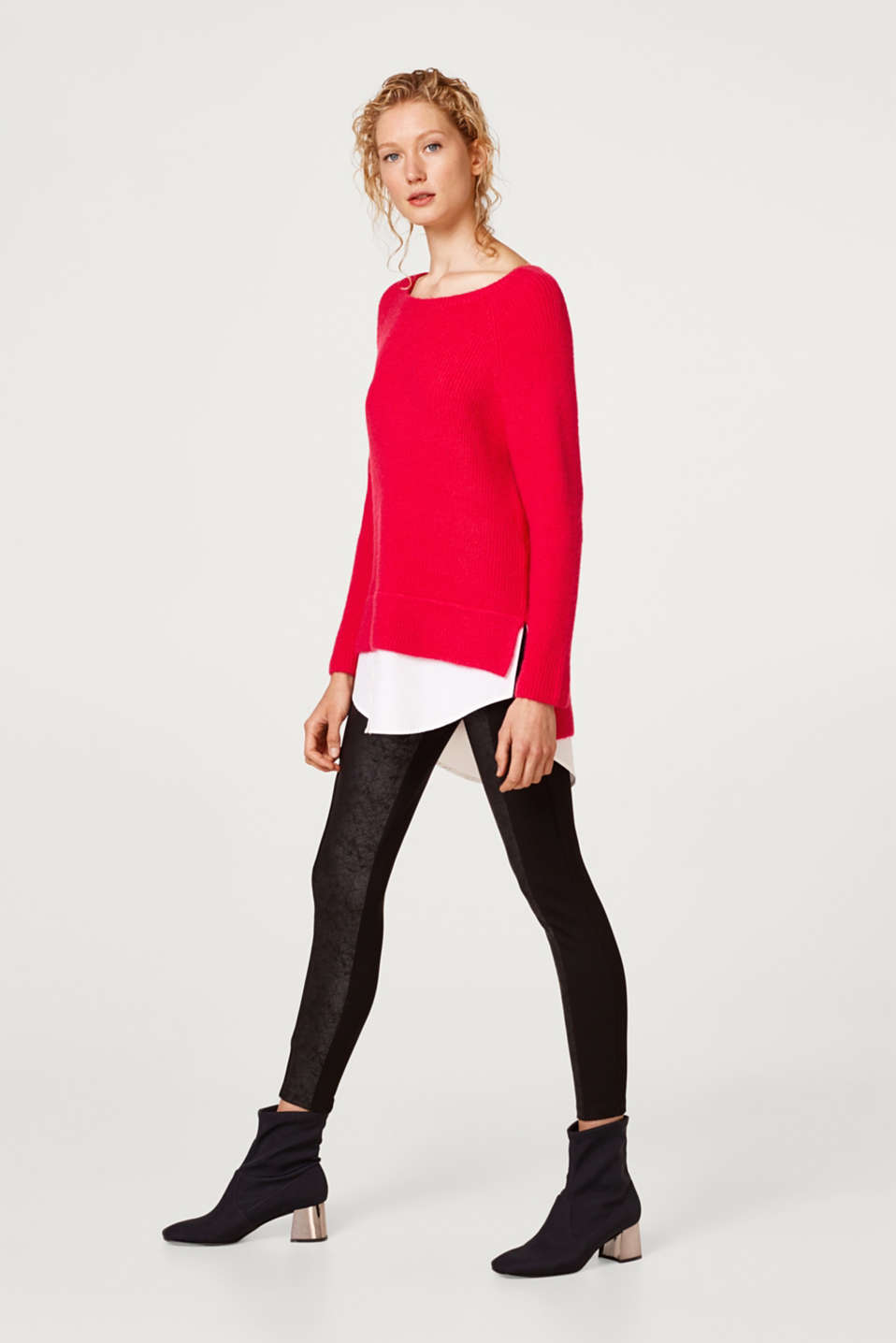 Esprit - Leggings mit Details in Leder-Optik