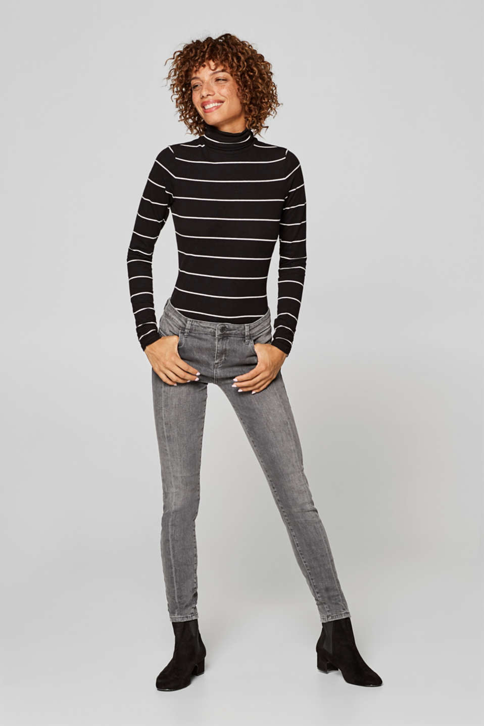 Esprit - Stretch jeans with decorative zips