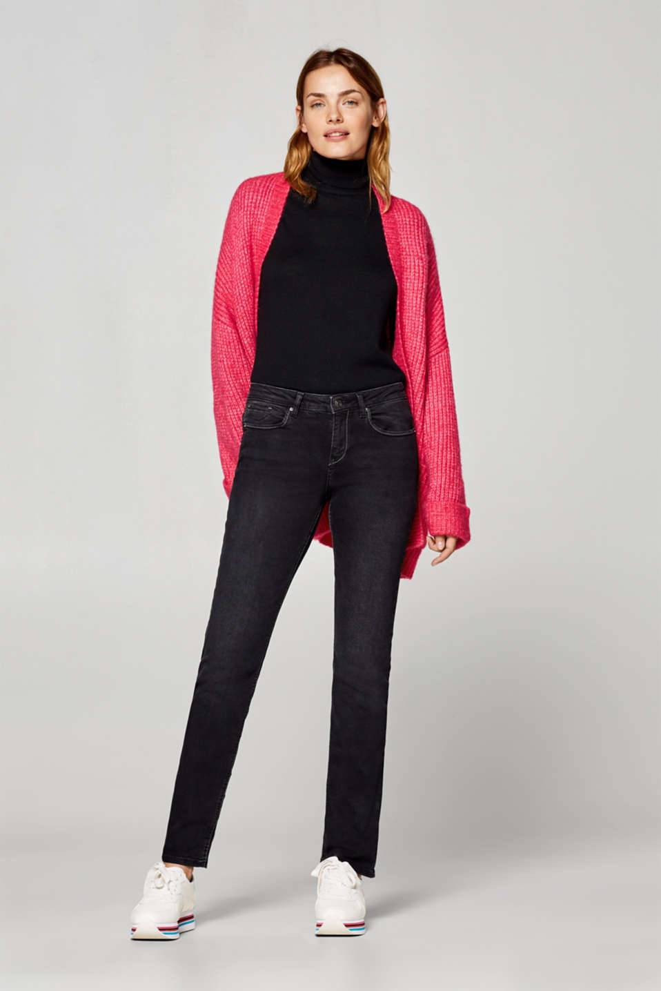 Esprit - Stretch jeans with fashionable pockets