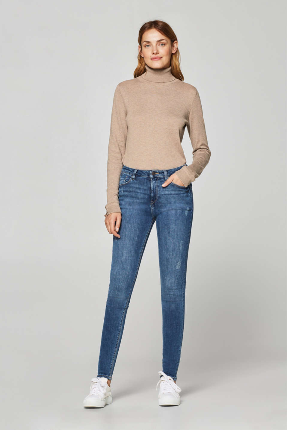 Esprit - Stretch jeans in a subtle vintage finish