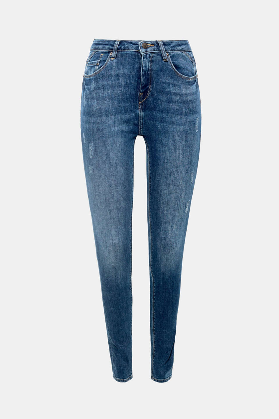 Nice and slim with a vintage touch - these stretch jeans have just the right details for a trendy, sexy and hip look!