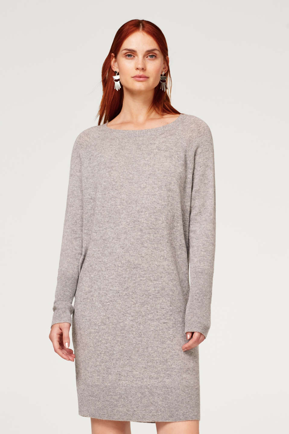 Esprit - With wool and cashmere: casual basic dress