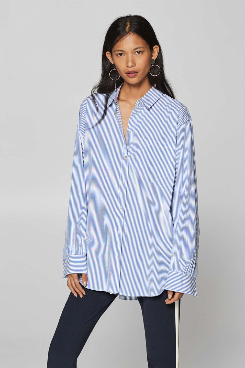 Esprit - Striped oversized blouse