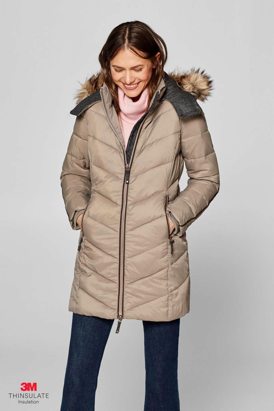 c672ded9155 Esprit   Abrigo acolchado con relleno 3M® Thinsulate® en la Online-Shop