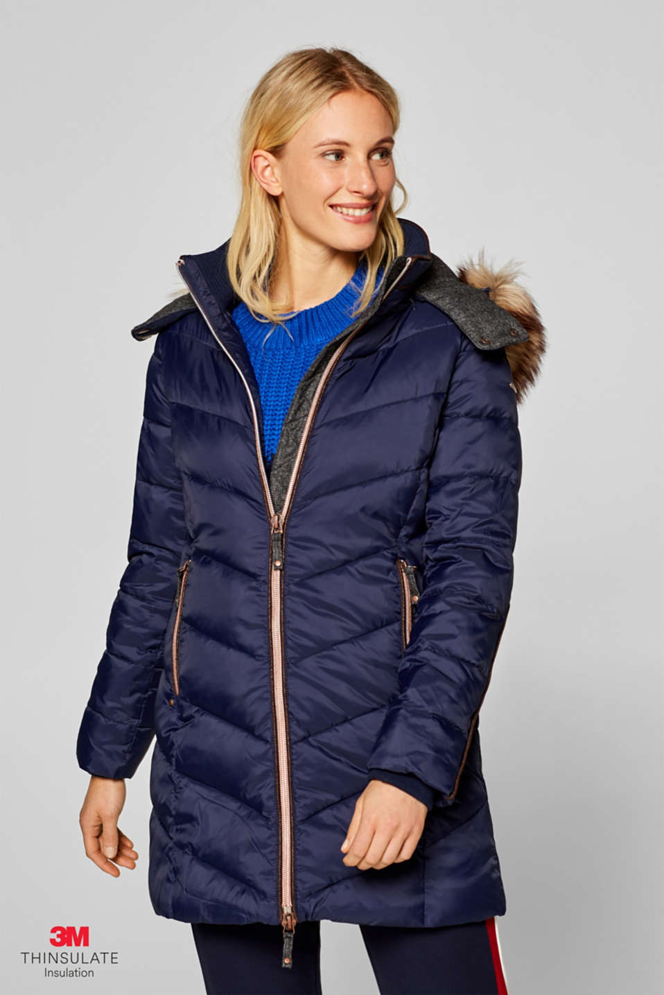 Esprit - Manteau matelassé au rembourrage 3M® Thinsulate