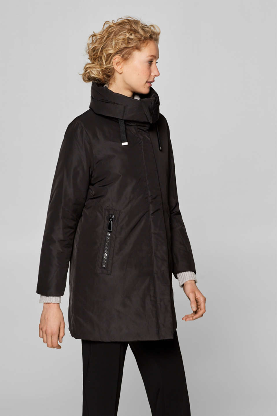 Esprit - Nylon jacket with quilted lining