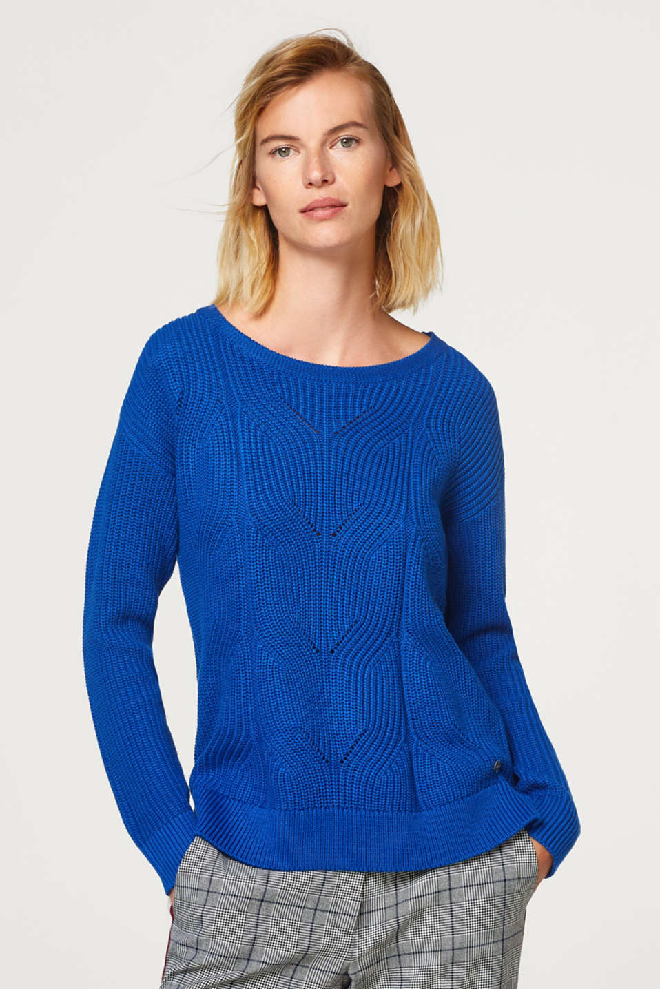 Esprit - Knit jumper with a textured pattern