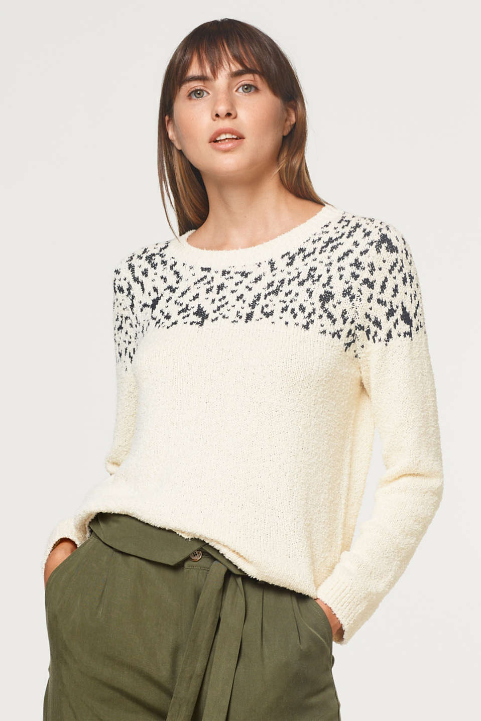 Esprit - Jumper with jacquard pattern