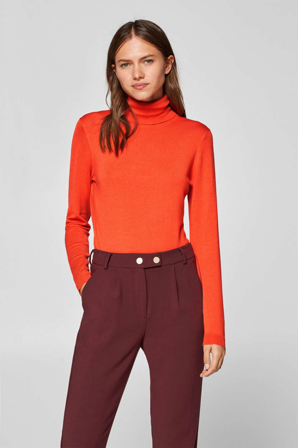 Esprit - Fine knit polo neck jumper