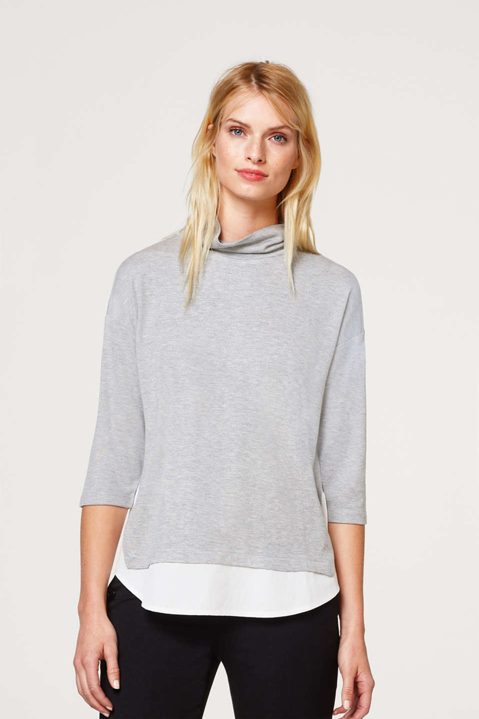 Esprit - 2-in-1 top with a cloth hem