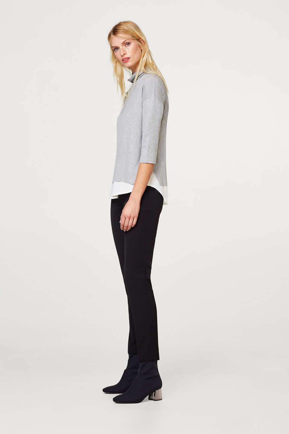 2-in-1 top with a cloth hem