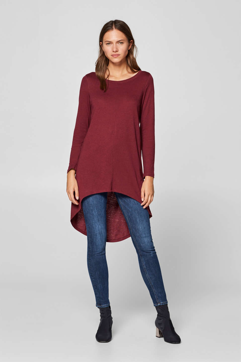 Esprit - Long top with high-low hem