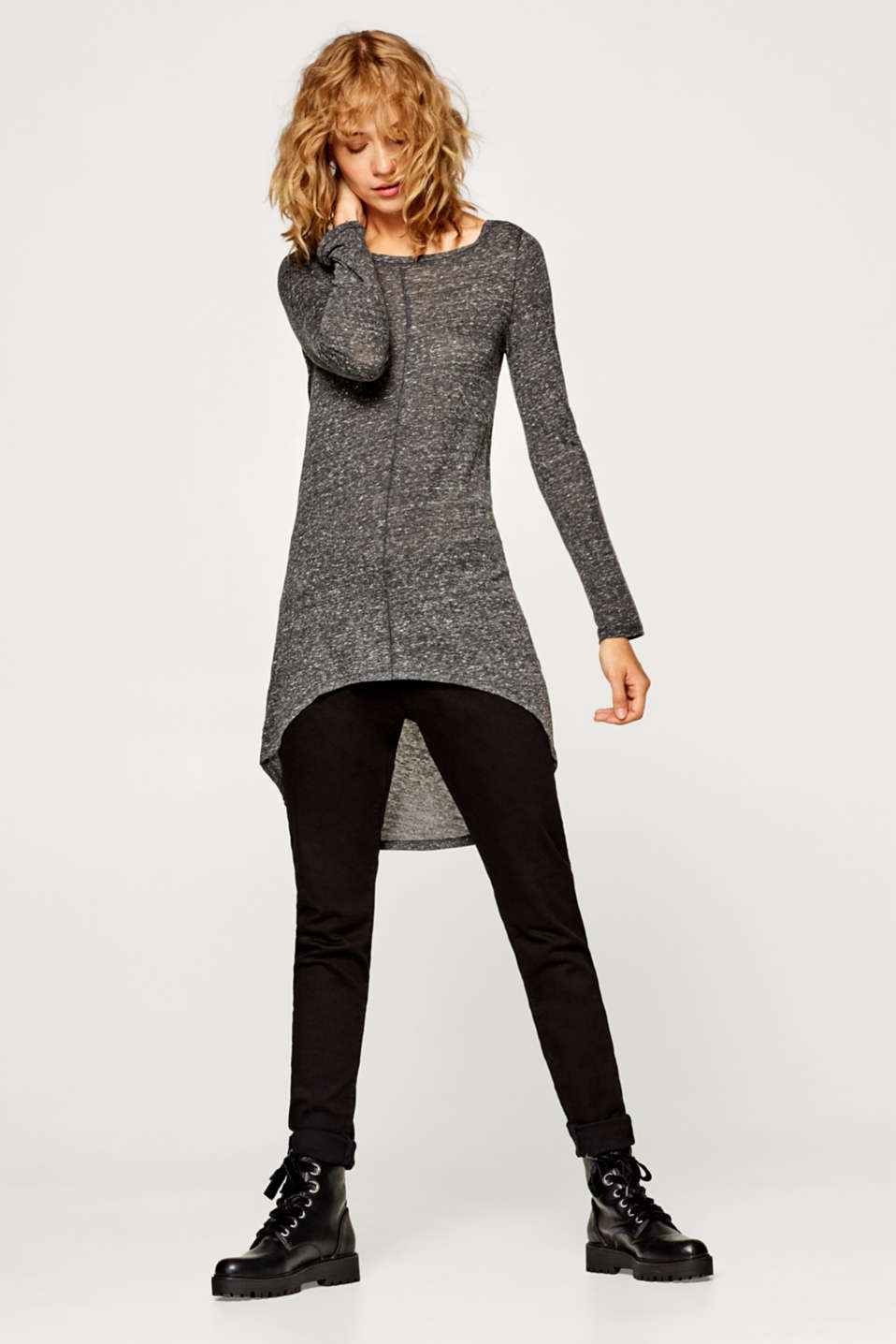 Esprit - Longshirt mit High-Low-Saum