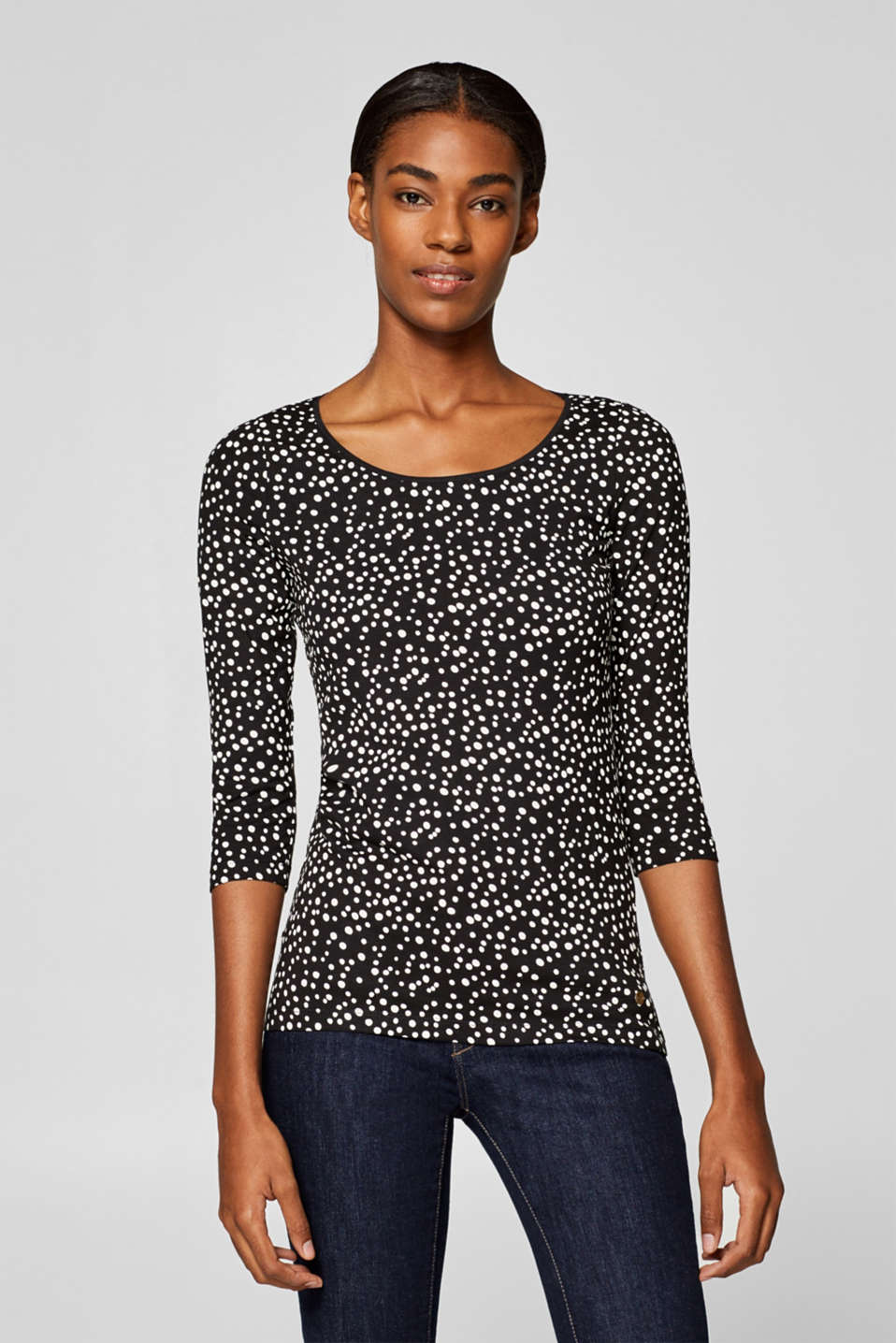 Esprit - Stretch top with all-over print
