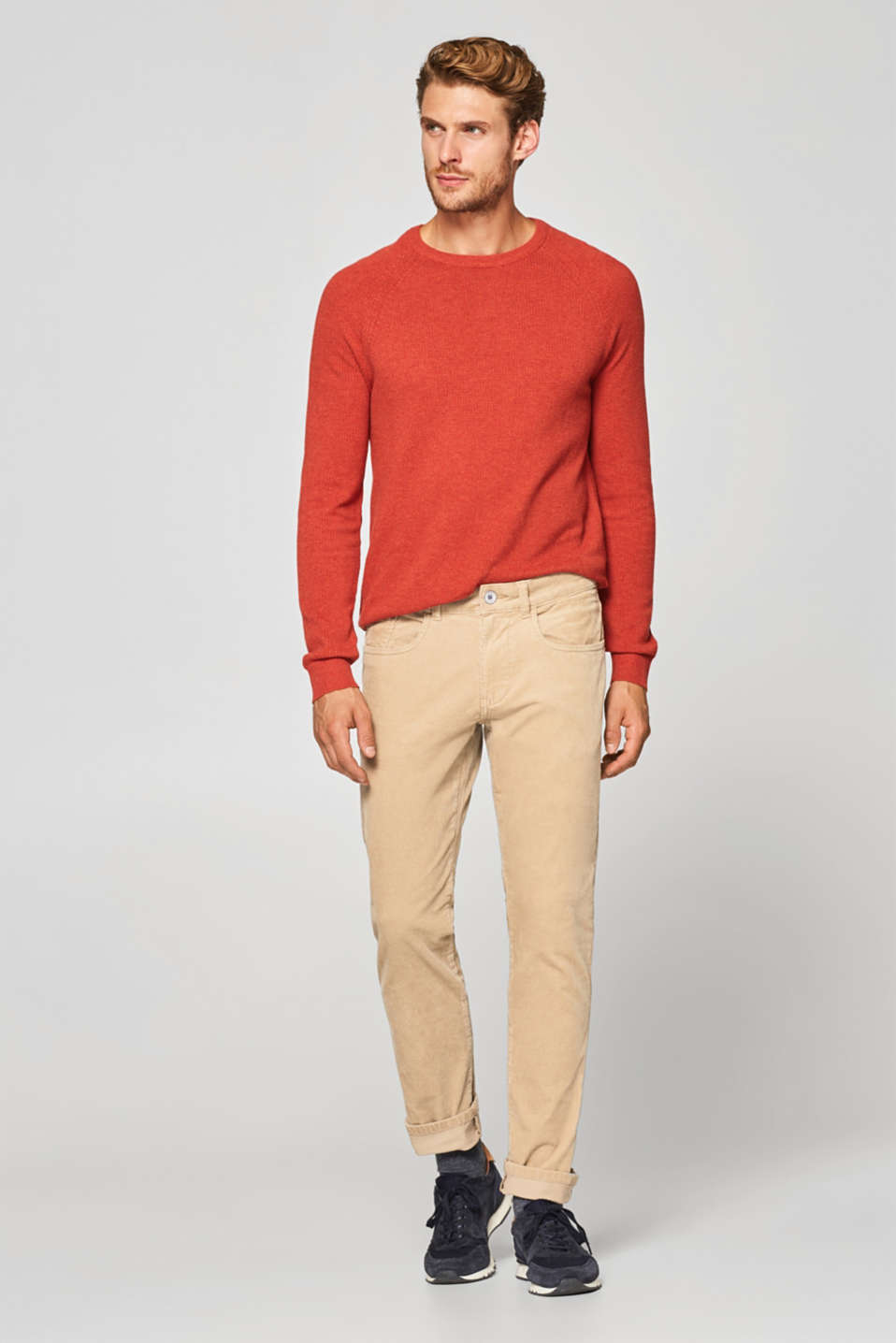 Esprit - Stretch cotton corduroy trousers