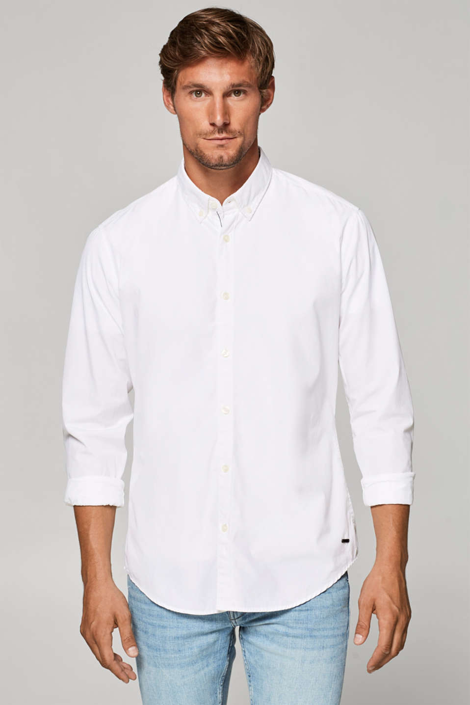 Esprit - Shirt in premium fabric, 100% cotton