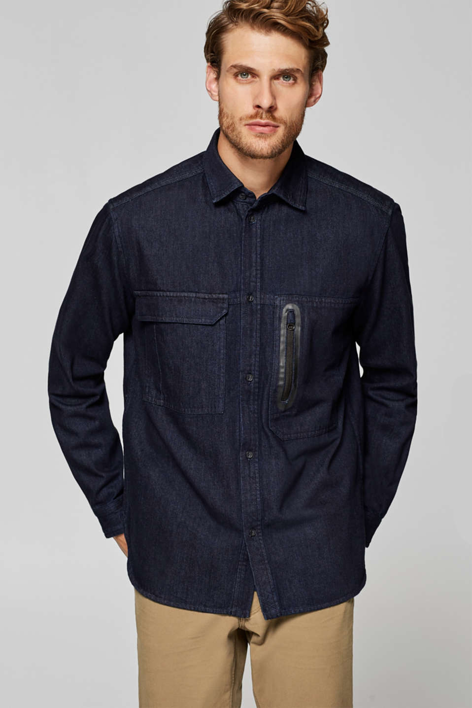 Esprit - Overshirt aus Dark Denim